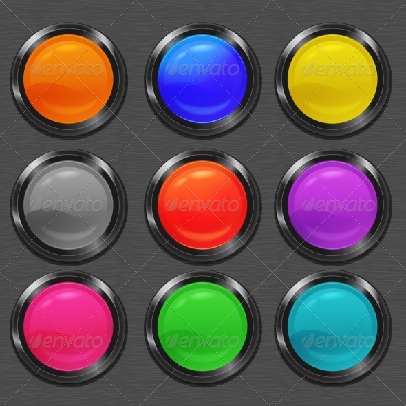 GraphicRiver Buttons Set 5373472