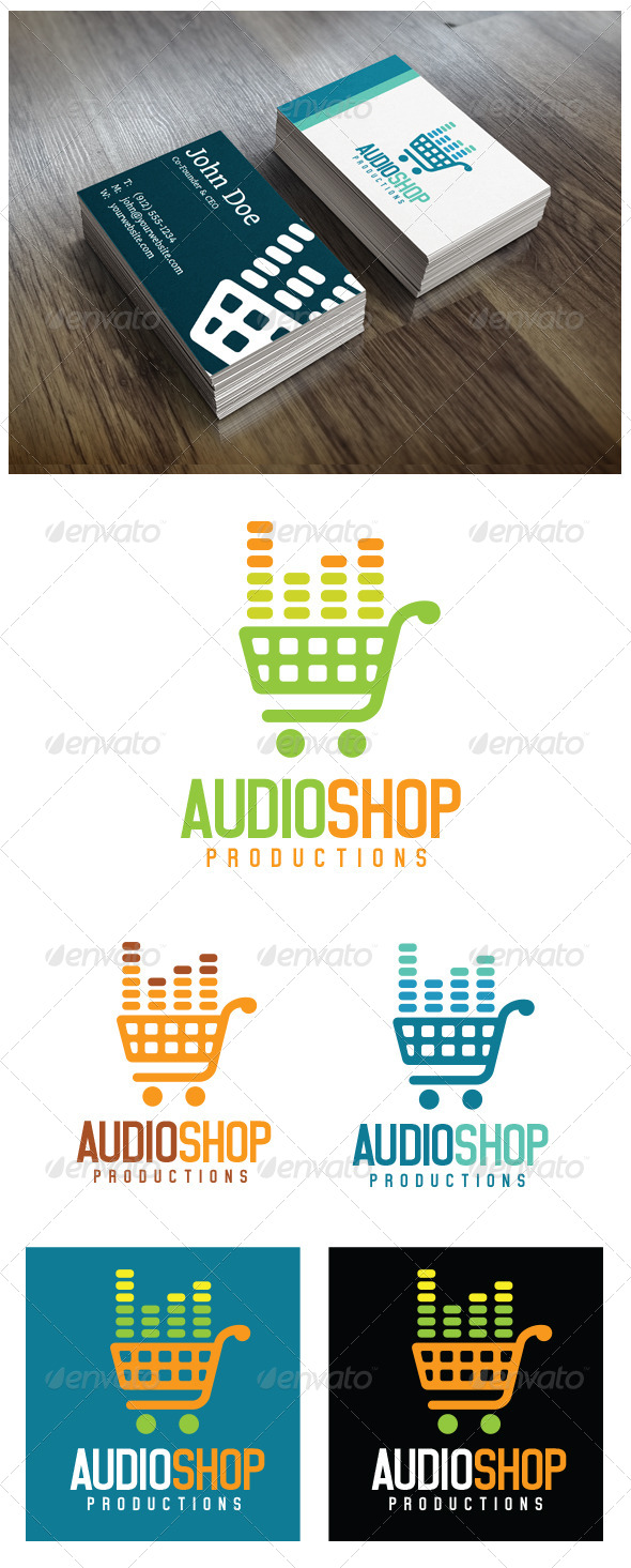 GraphicRiver Audio Shop Logo Template 5373509