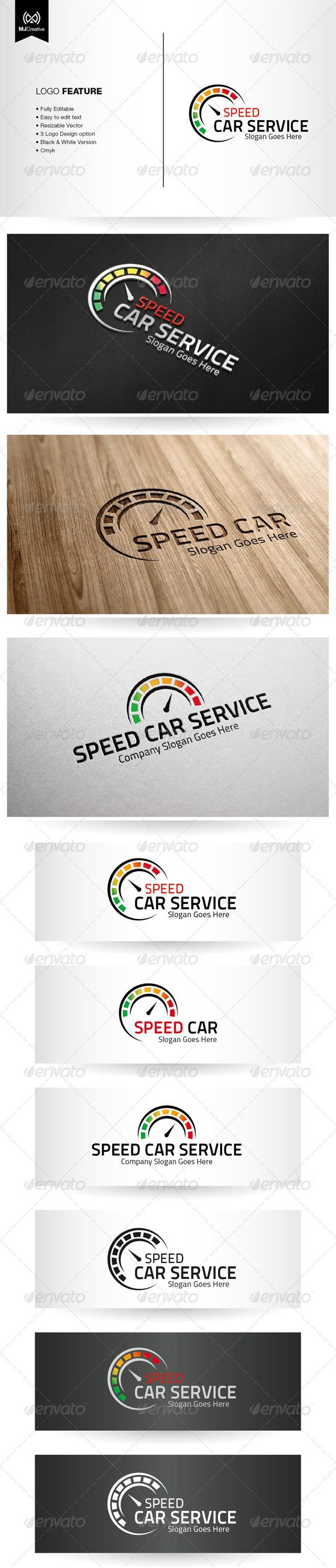 GraphicRiver Speed Car Service Logo 5372199