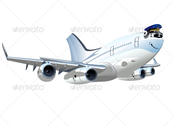 GraphicRiver Vector Cartoon Airliner 5373579
