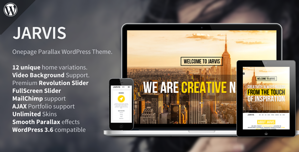 ThemeForest Jarvis Onepage Parallax WordPress Theme 5370691