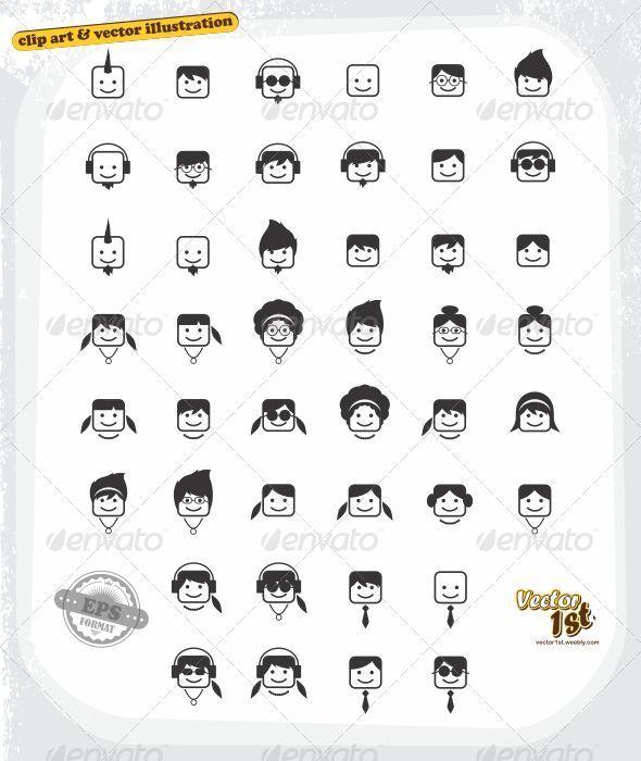 GraphicRiver Human Portrait Avatar Set 5373783