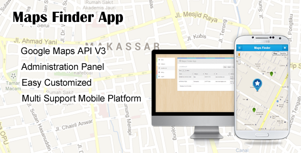 CodeCanyon Maps Finder App 5373795