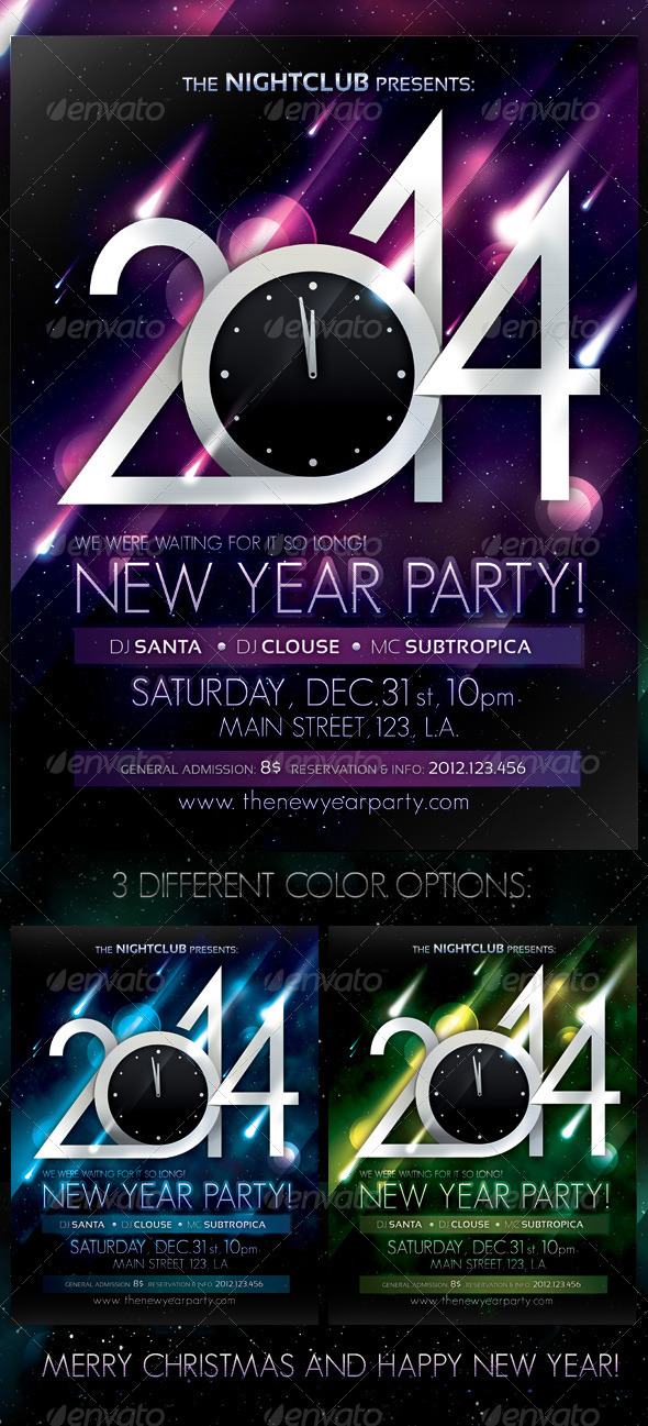 2014 New Year Party Poster - Clubs & Parties Events