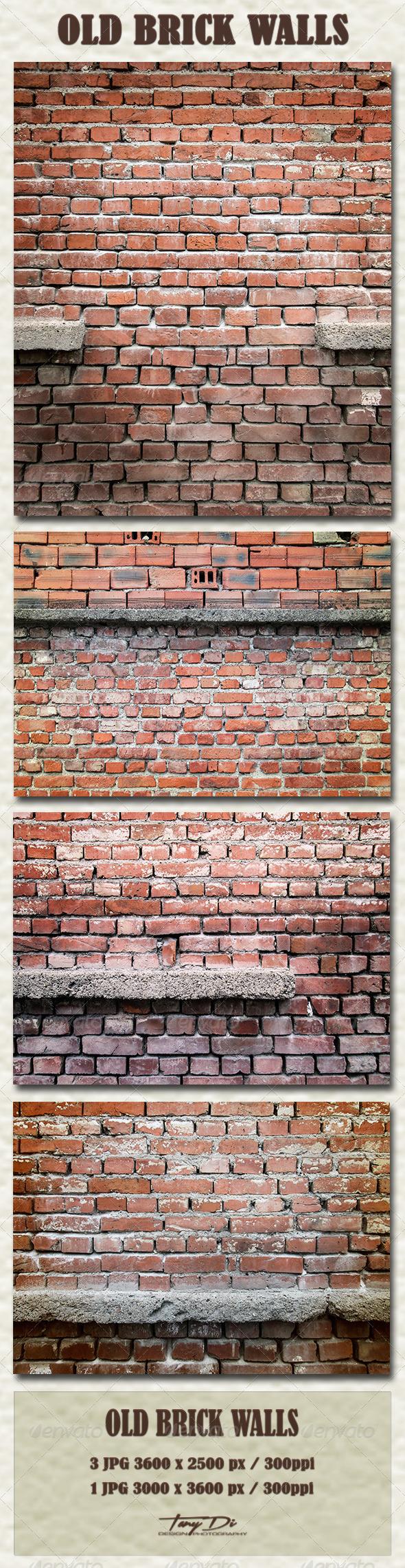 GraphicRiver Old Brick Walls 5373916