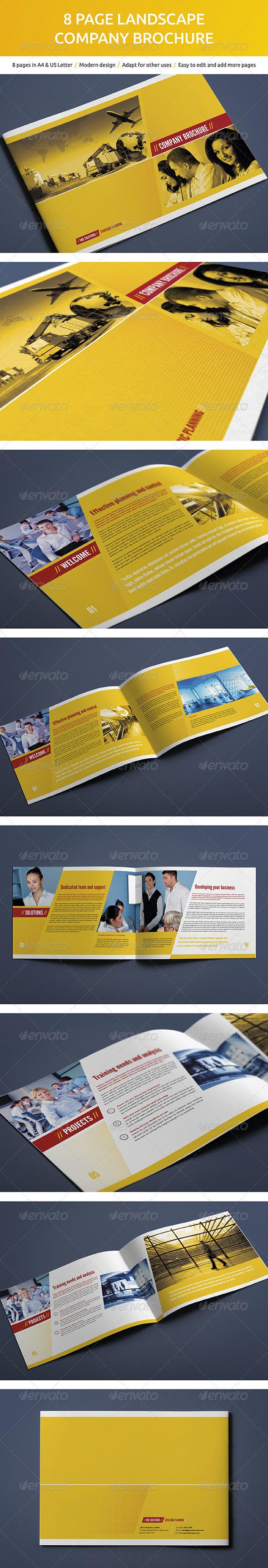 GraphicRiver 8 Page Landscape Company Brochure 5373988