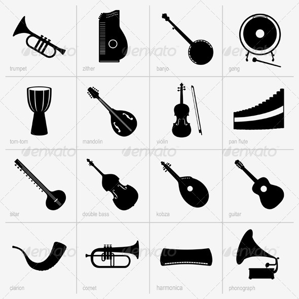 GraphicRiver Musical Instruments 5374052