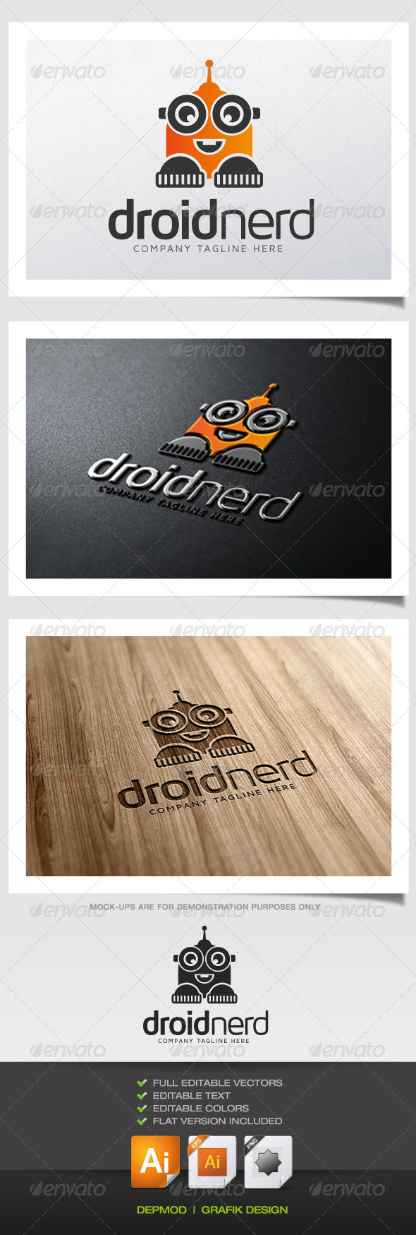 GraphicRiver Droid Nerd Logo 5374800