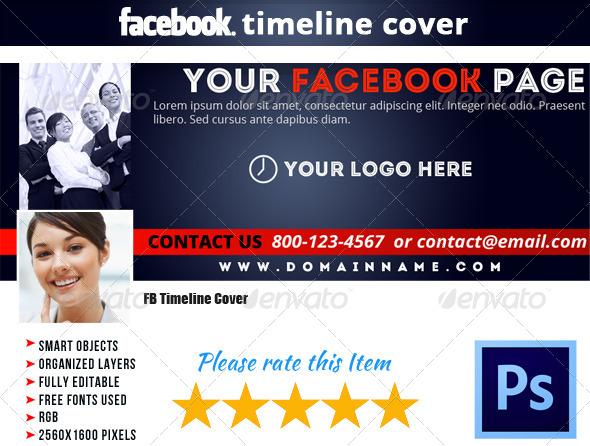 GraphicRiver Corporate FB Timeline Cover 10 5374961