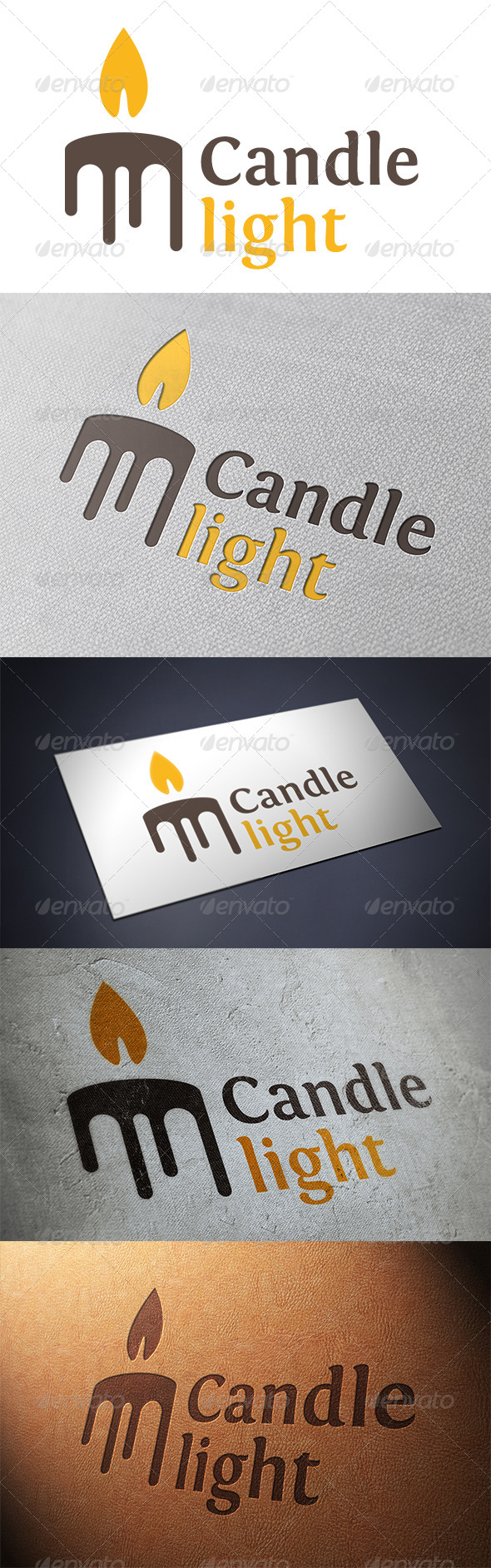 GraphicRiver Candle Logo Template 5374966