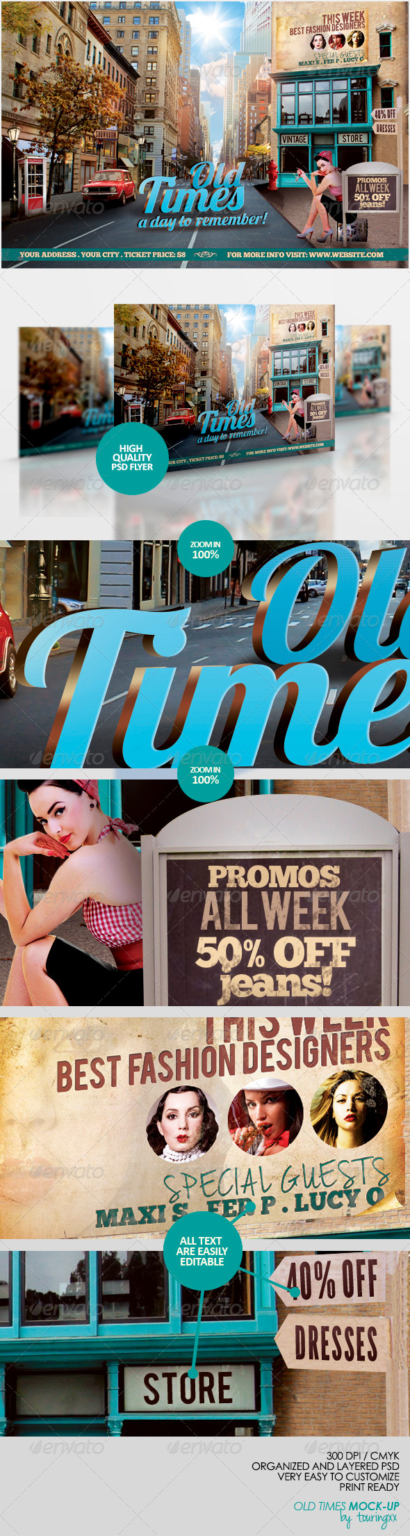 GraphicRiver Old Times Flyer Template 5335080