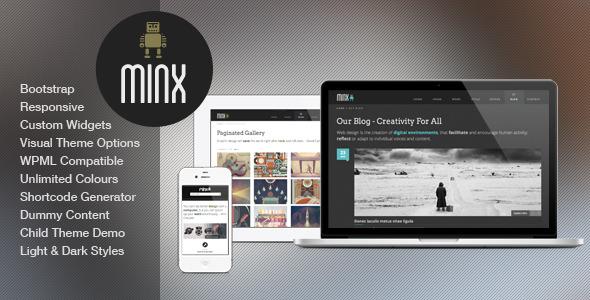Minx - Responsive Bootstrap WordPress Theme