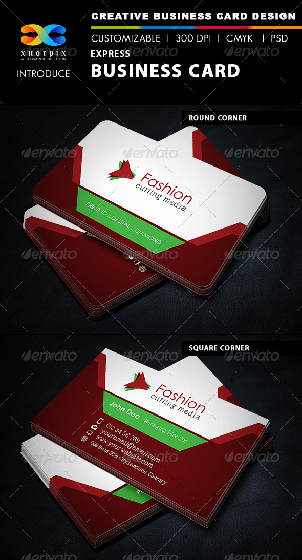GraphicRiver Express Business Card 5375068