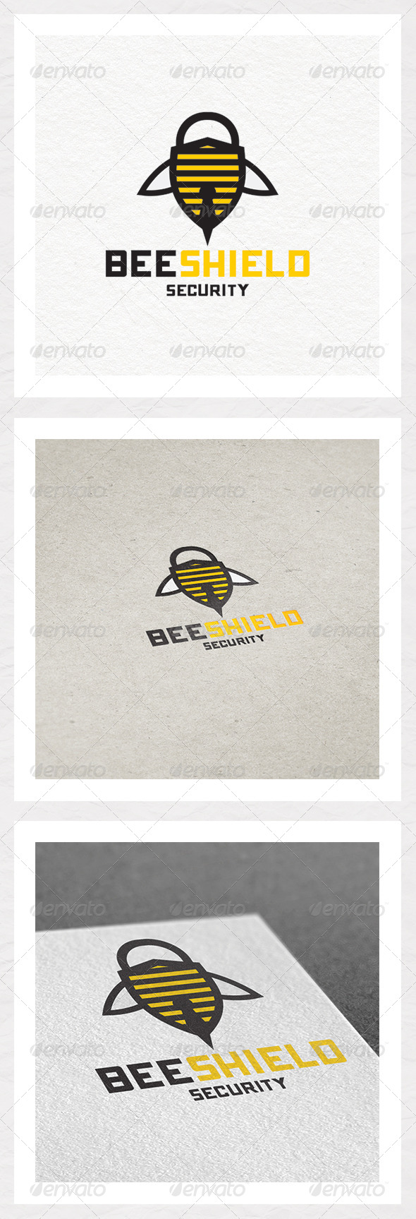 Bee Shield Security Logo Design