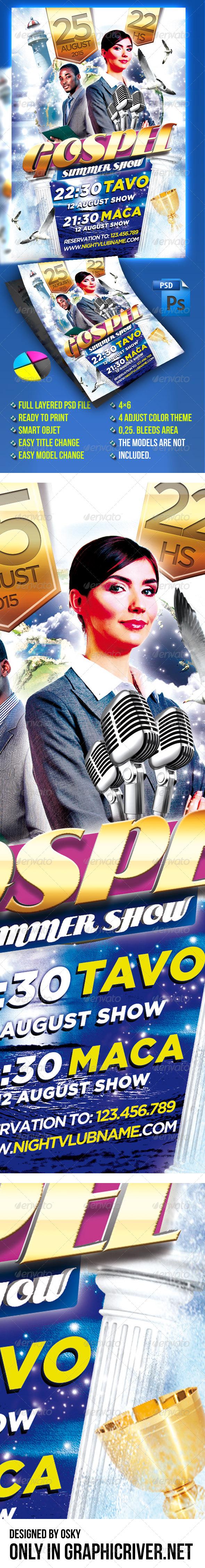 GraphicRiver Gospel Summer Show 4895099