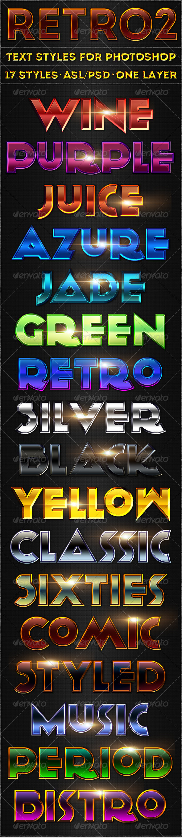 Retro 2 - Text Styles - Add-ons