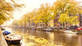 An Amsterdam Canal in the Fall - PhotoDune Item for Sale