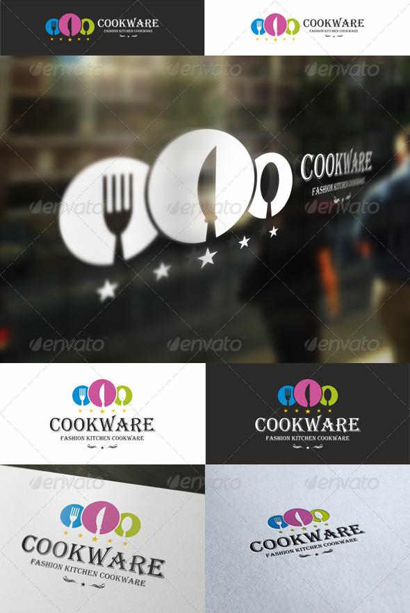 GraphicRiver Cookware Cuisine Logo 5374785