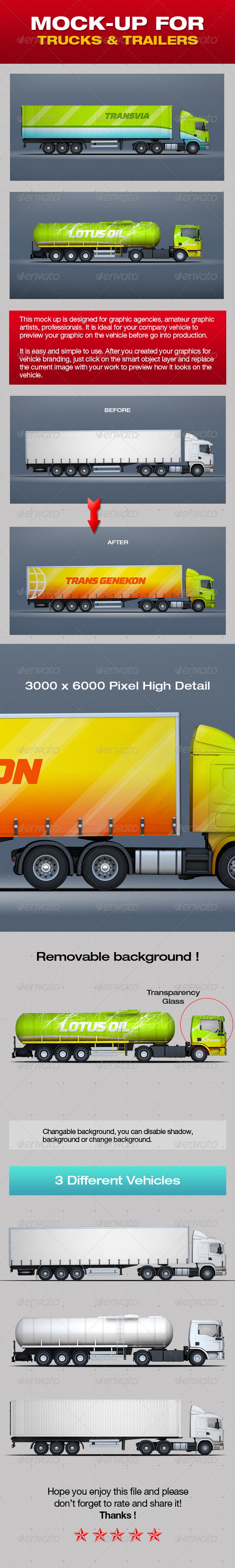 GraphicRiver Mock-Up For Trucks & Trailers 5338232