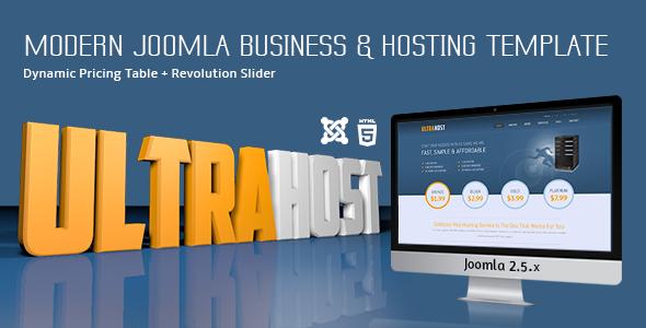 ThemeForest UltraHost Business & Hosting Joomla Template 5376468