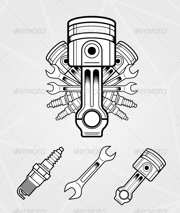 GraphicRiver Engine parts 546995