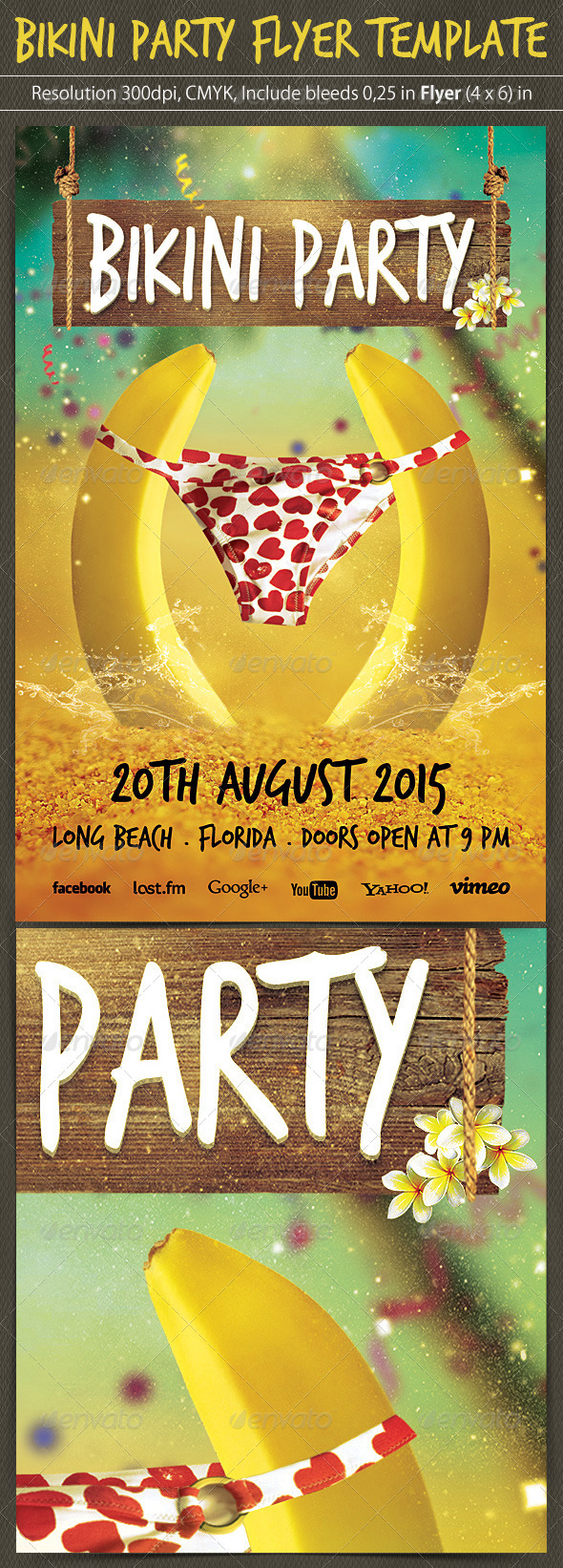 GraphicRiver Bikini Party Flyer Template 5245065