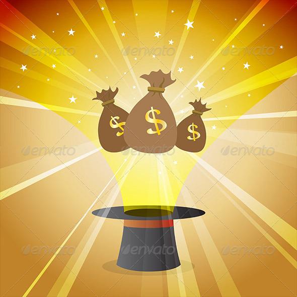GraphicRiver Money Magic Hat 5377355