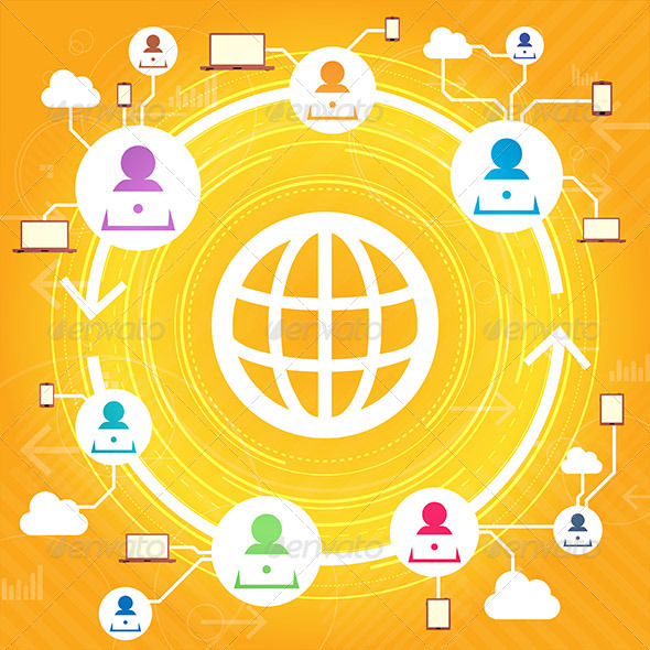 GraphicRiver Multiple User Network Access 5377358