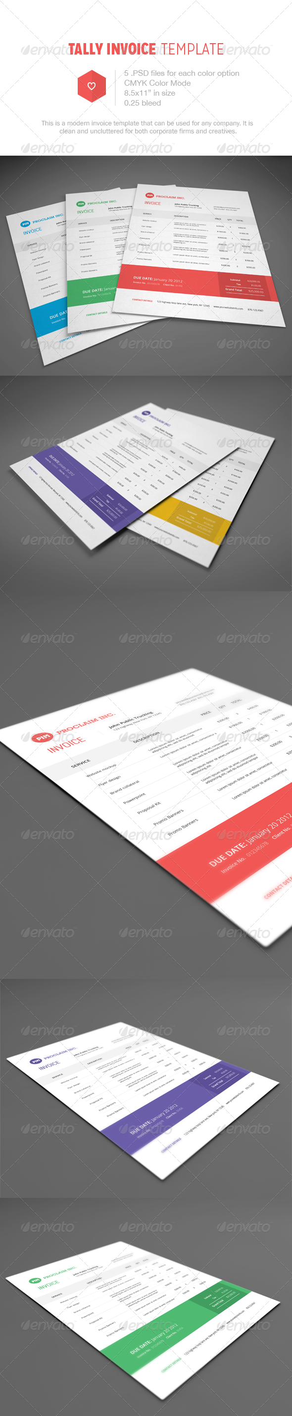 GraphicRiver Tally Invoice Template 5377359