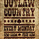 Outlaw Country Flyer Template - GraphicRiver Item for Sale