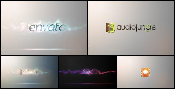 AE模板-明亮干净企业公司标识logo片头演绎粒子流光碰撞效果模版Particle Hit Reveal免费下载
