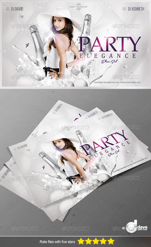GraphicRiver Flyer Party Elegance 5377626