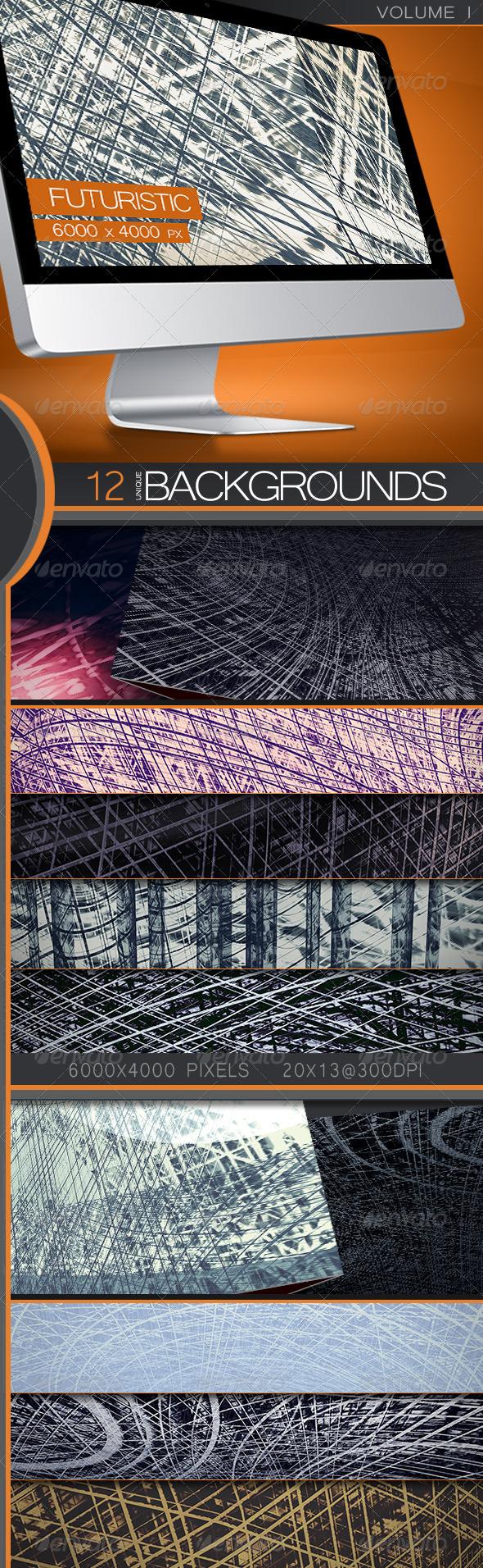 GraphicRiver Futuristic Backgrounds Volume 1 5377750
