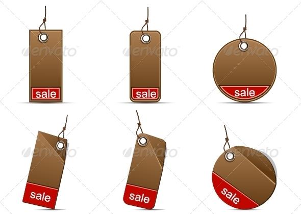 GraphicRiver Cardboard Sale Labels 5377836