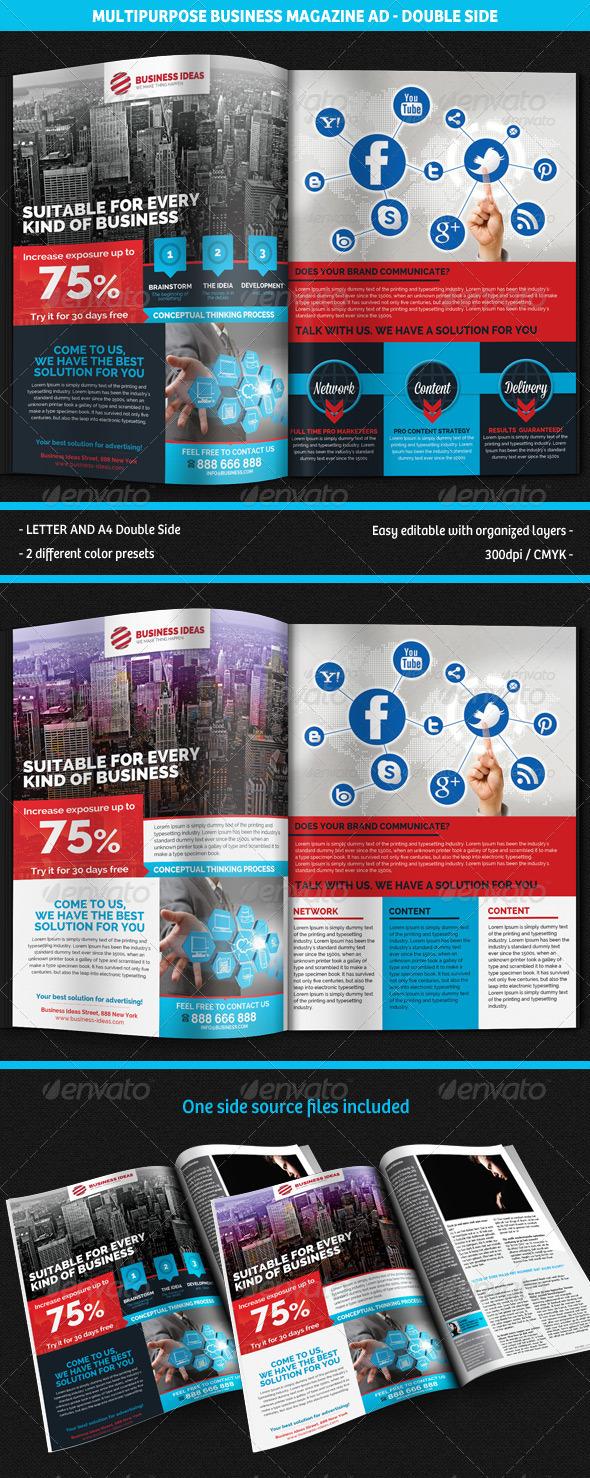 Multipurpose Business Corporate Magazine Ad