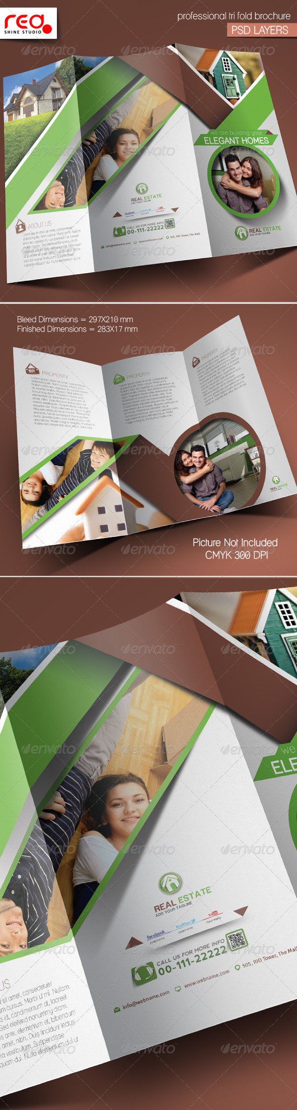 GraphicRiver Real Estate Trifold Brochure Template 5377910