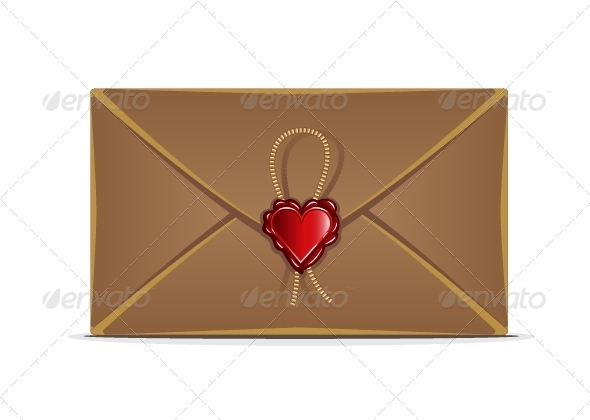 GraphicRiver Retro Envelope with Heart 5377952