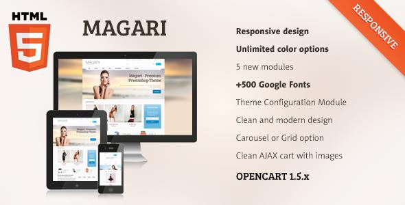 ThemeForest Magari Responsive OpenCart Theme 5372784