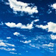 Panorama of deep blue sky and bright clouds - PhotoDune Item for Sale