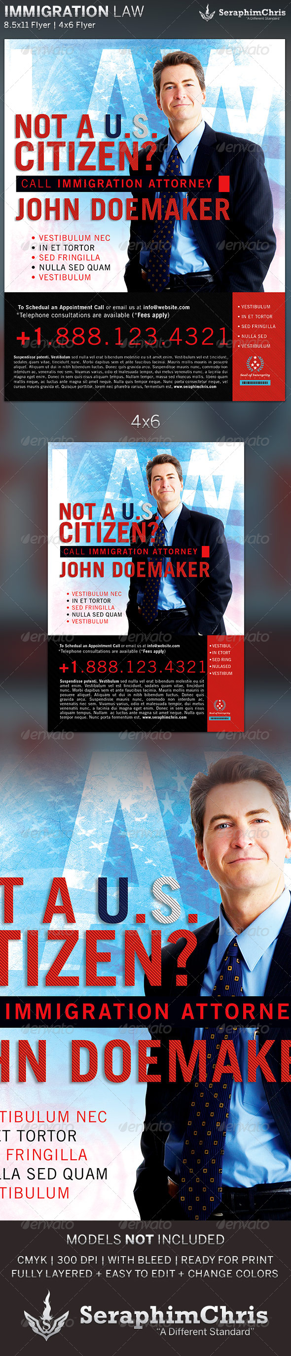 GraphicRiver Immigration Law Flyer Template 5378586
