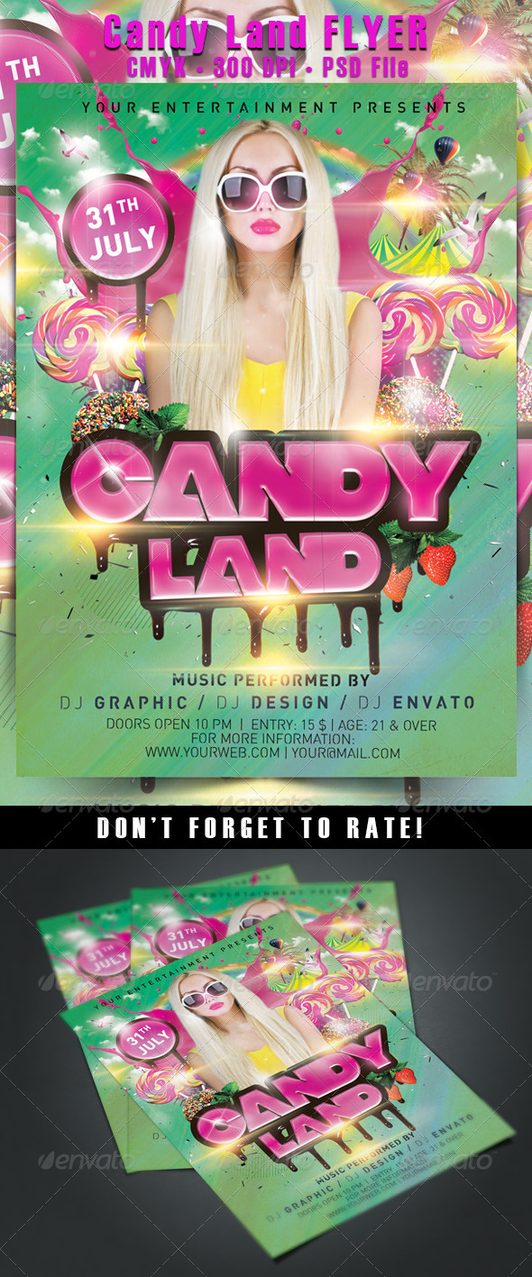 Candy Land Flyer - Events Flyers