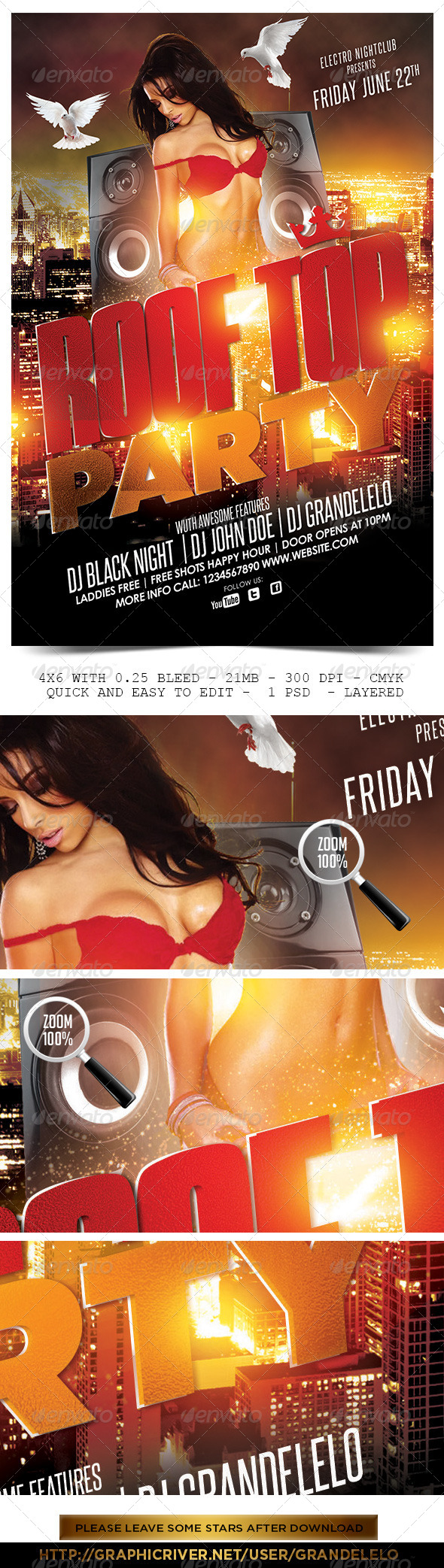 GraphicRiver Roof Top Party Flyer 5378893