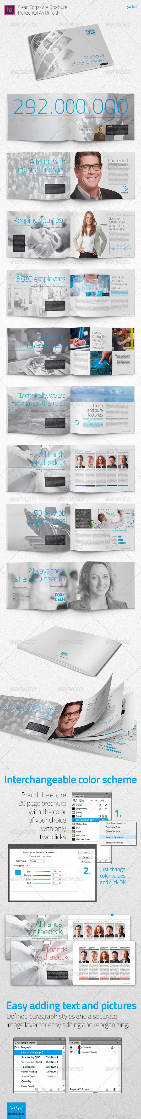GraphicRiver A4 Brochure Corporate Portfolio Bio 5378913