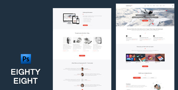 EightyEight - Multi Purpose PSD Template