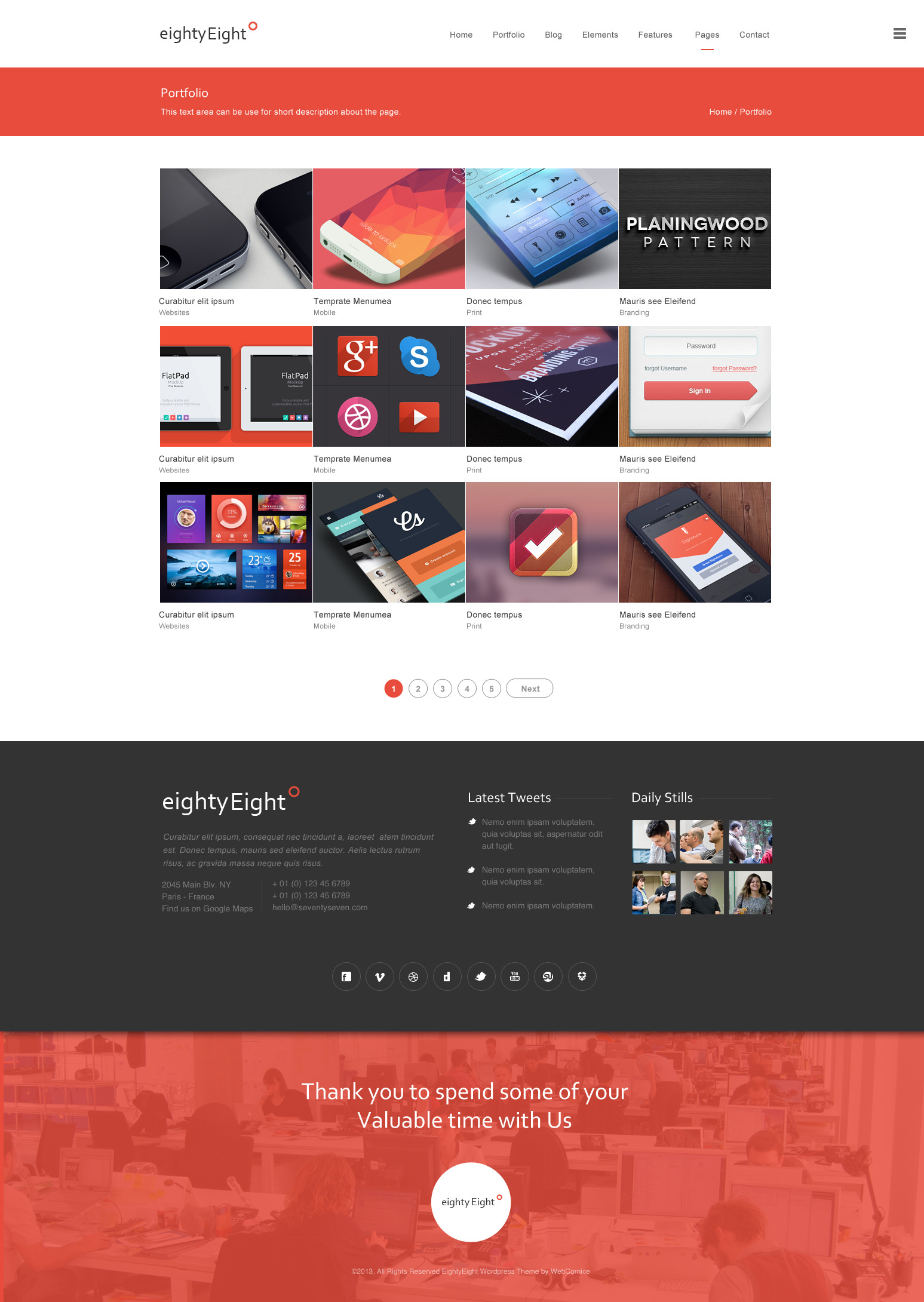 EightyEight - Multi Purpose PSD Template