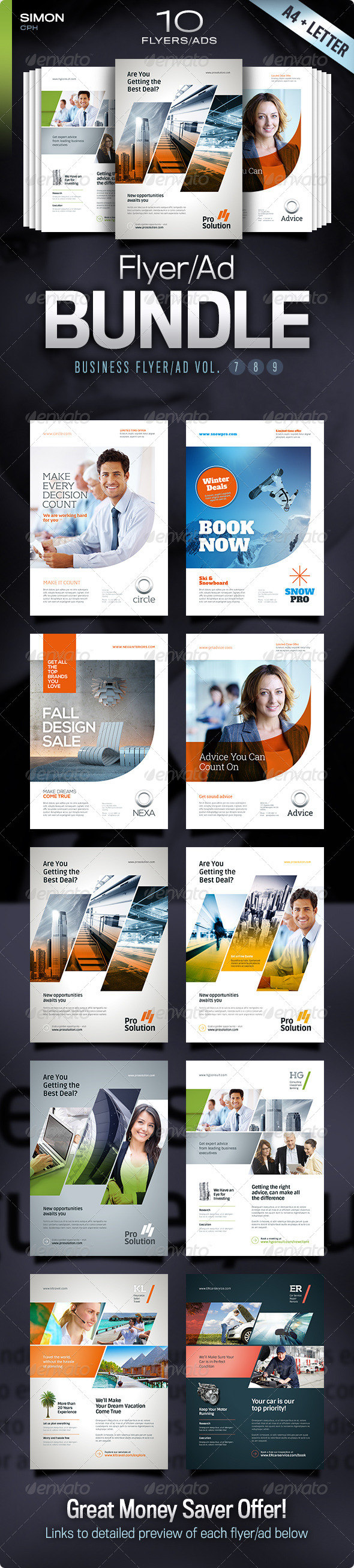 GraphicRiver Business Flyer Ad Bundle Vol 7-8-9 5378936