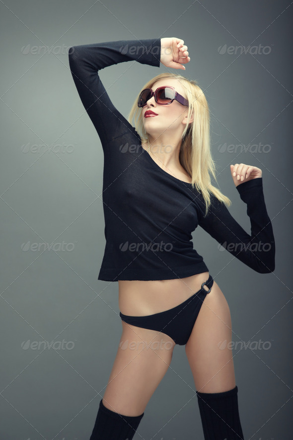 Fashion with sunglasses - Stock Photo - Images