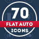 70 Flat Auto Icons - GraphicRiver Item for Sale