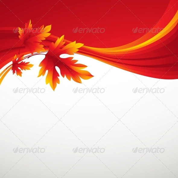 GraphicRiver Fall Leafs Abstract Background 5379156