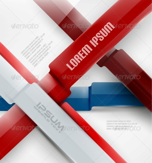 GraphicRiver Abstract Business Modern Ribbon Background 5380287